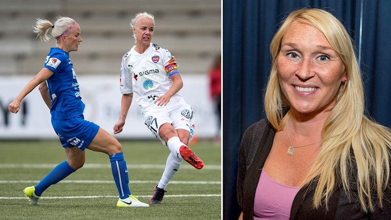 Eskilstunas Petra Johansson mot Rosengårds Caroline Seger.
