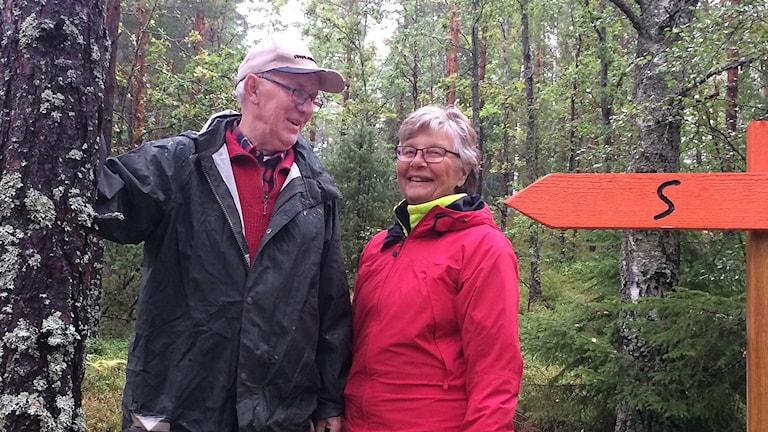 Peter Swärd och Kerstin Sixhöj är etappansvariga på Sörmlandsleden.