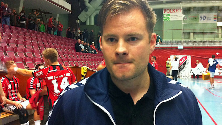 Kristján Andrésson, tränare i Guif. Foto: Jonas Carnesten/Sveriges Radio