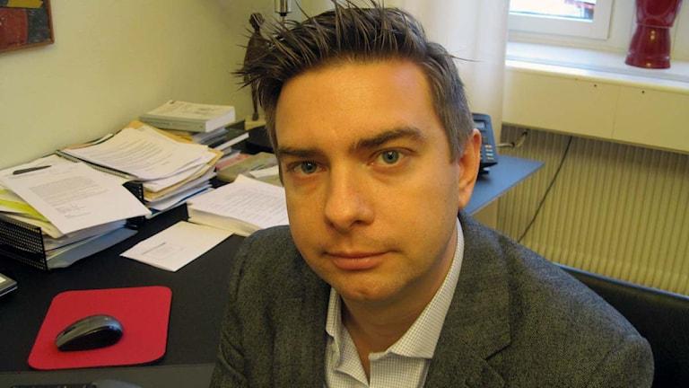 En bild på kommunalrådet Jimmy Jansson (S). Foto: Michael Berwick/Sveriges Radio.