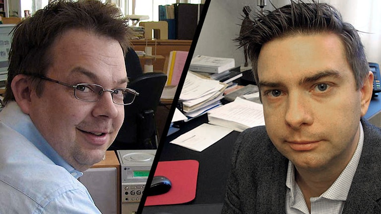 Jari Puustinen, (M) och Jimmy Jansson (S).