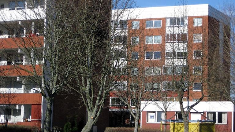 Hus, lägenheter, Skiftinge, Eskilstuna. Foto: Michael Berwick/Sveriges Radio.