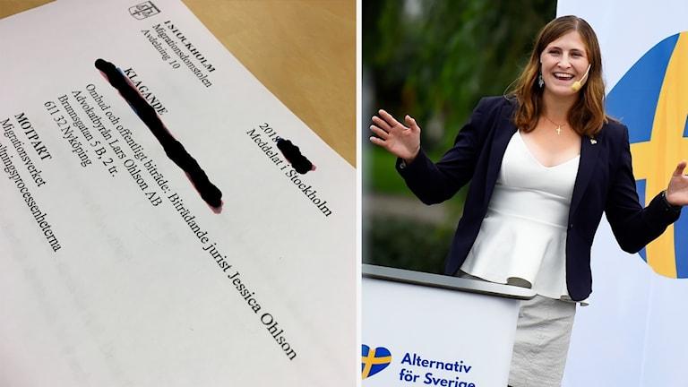 Migrationsdomstolens avgörande och Jessica Ohlson.