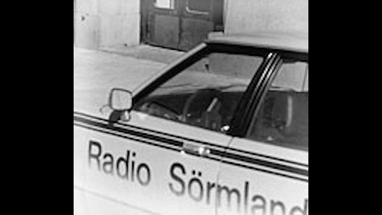 Radio Sörmlands bil 1977. Foto: Sveriges Radio.