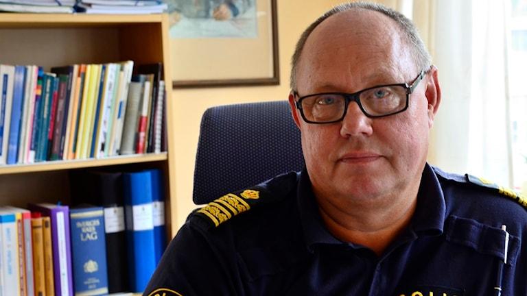 Torbjörn Johansson, operativ chef polismyndigheten i Sörmland. Foto: Per Thyrén/Sveriges Radio.