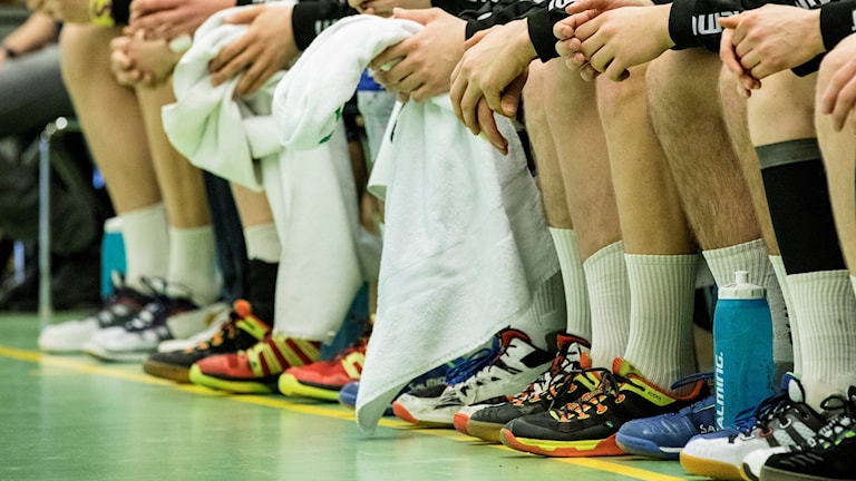 Handbollsspelares skor.