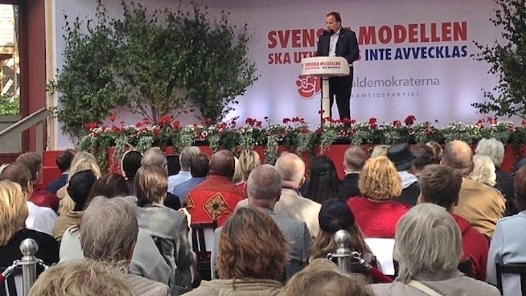 Statsminister Stefan Löfven sommartalar i Eskilstuna