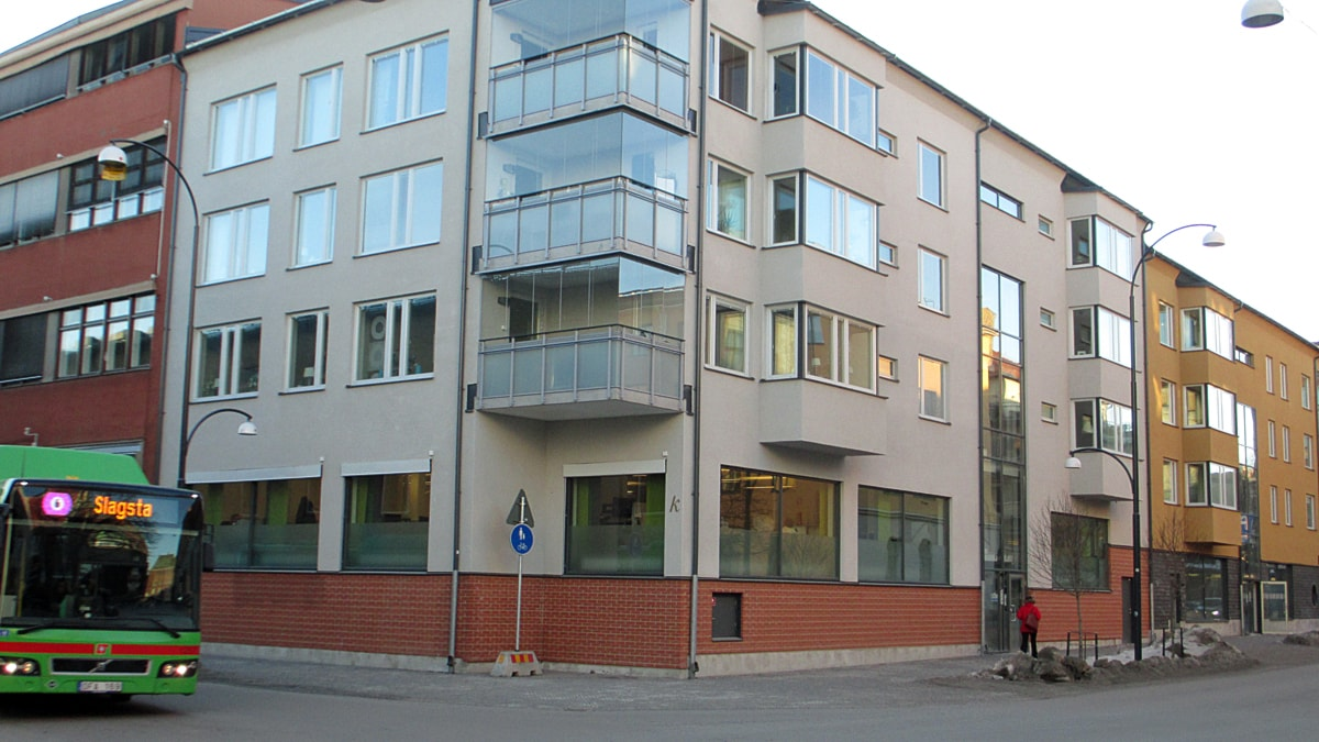 Hyresbostäder i centrala Eskilstuna. Senast färdigställda - 2011 - på Nygatan-Gymnastikgatan. Foto: Michael Berwick.