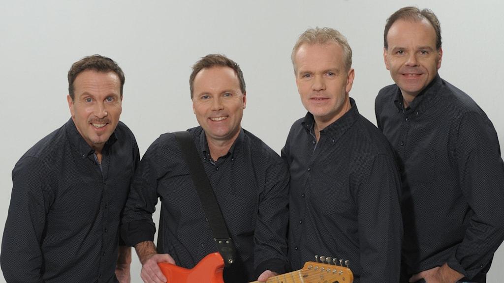 Mats Bergmans från Nyköping.  Från vänster: Gullmar Bergman, Micke Eriksson, Magnus Nyman & Torbjörn Kempe