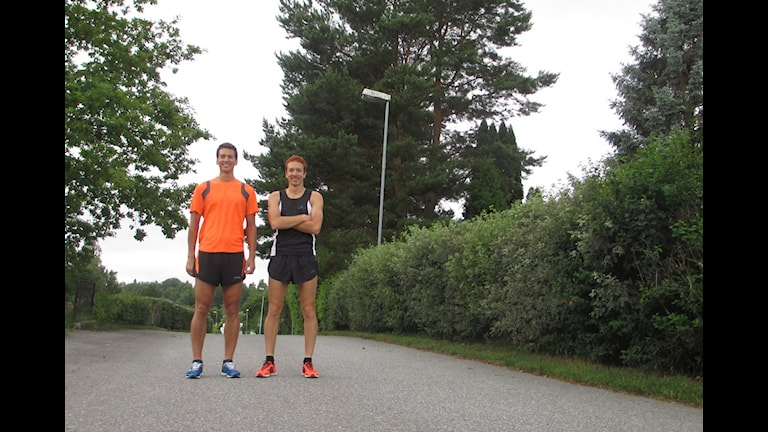 Gångsportare på väg. Foto: Andreas Berglund/Sveriges Radio.