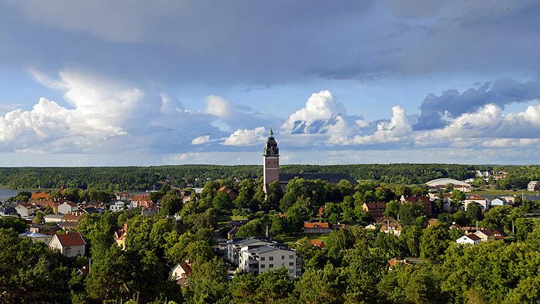Domkyrkan och vy över centrala Strängnäs. Foto: Hampus Andersson/Sveriges Radio
