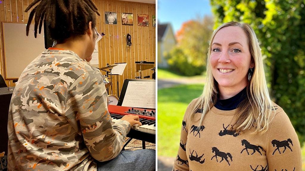 Annelie Strindberg, kurssamordnare för musikkursen på Åsa folkhögskola