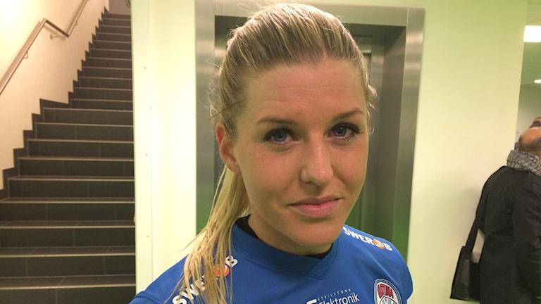 Olivia Schough. Foto: Fredrik Blomberg/Sveriges Radio.
