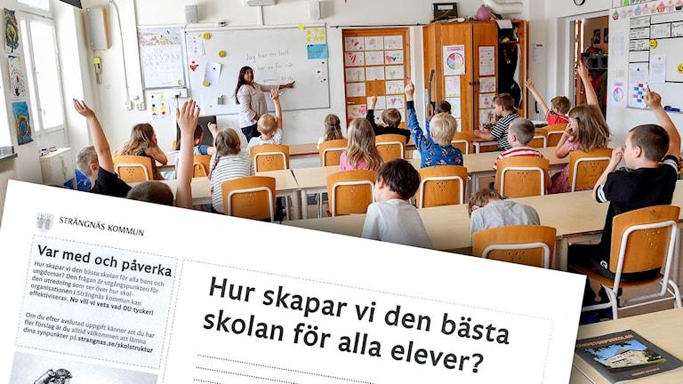 Bild på skolklass