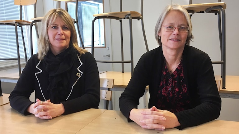 oppositionsrådet Charlotte Prennfors (M) och Kommunalrådet Anneli Bengtsson (S)