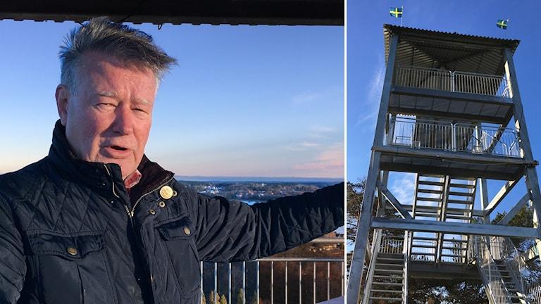 Rolf Wallinder är initiativtagare till tornet