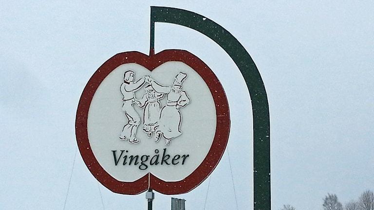 Vingåkers-skylt. Foto: Evelina Crabb/Sveriges Radio.