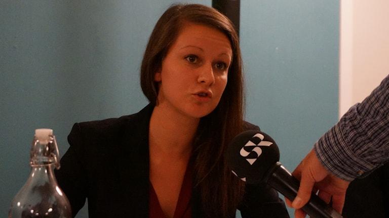 Sara Karlsson (s) är en av de som står bakom motionen.