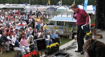 Anders Eldeman i Malmköping 2007. Foto: Sveriges Radio.
