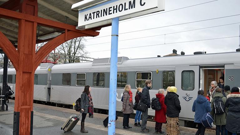 Tågstationen i Katrineholm. Foto: Reino Helin/Sveriges Radio.