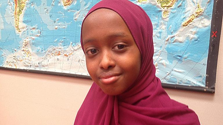 Tamam Ahmed, 11 år från Eskilstuna. Foto: Jonna Berglund/Sveriges Radio.