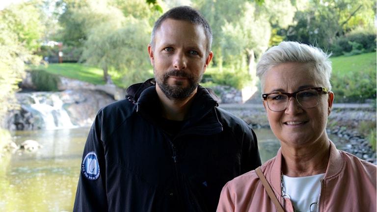 Nils Ljunggren, projektledare på Sportfiskarna, och Harriet Nilsson, verksamhetsstrateg på NYSAM.