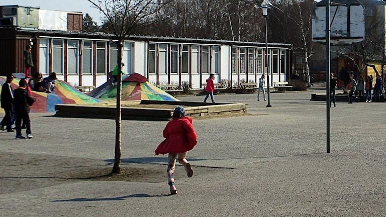 Lagersbergsskolans skolgård. Foto: Maria Blanco/Sverigs Radio.