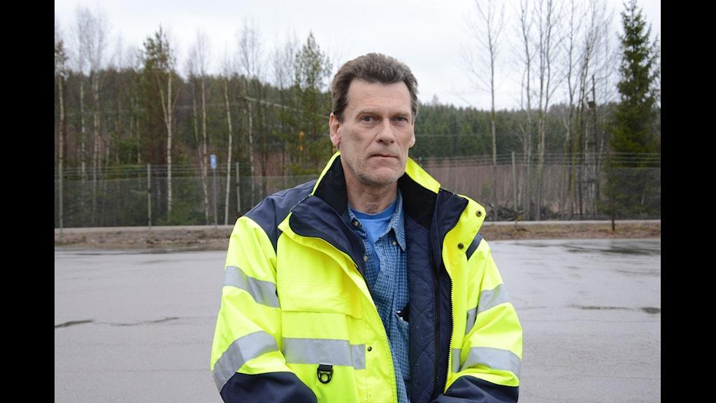 Lars Broscheit fastighetsägare Brannebol utanför Nyköping. Foto: Urban Hedqvist/Sveriges Radio.