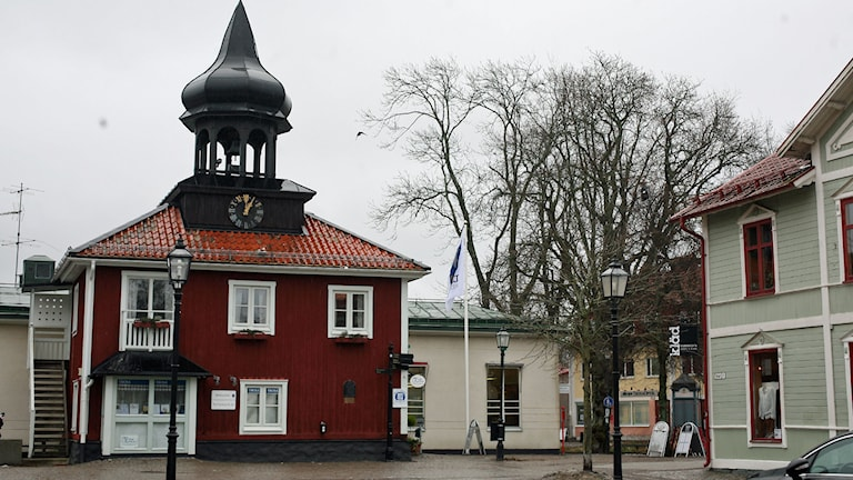 Torget i Trosa. Foto: Jacob Hansson/Sveriges Radio.