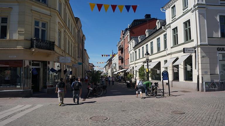 Västra Storgatan i Nyköping. Foto: Katarina Larsson/Sveriges Radio.