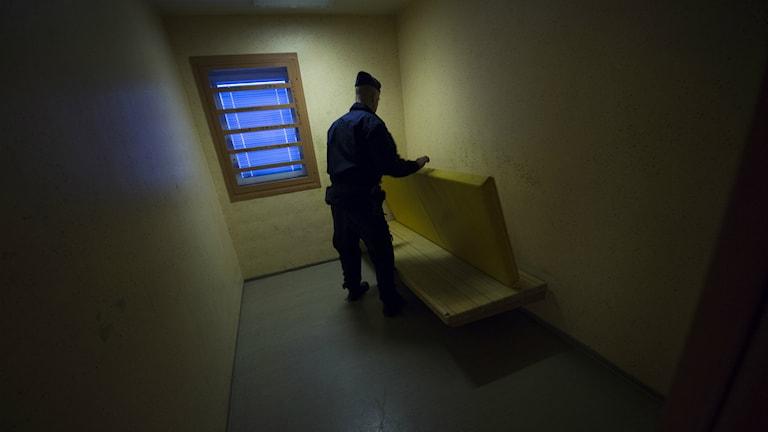 Händelsen ägde rum i arresten i Växjö. Bilden är inte tagen i Växjö.  Foto: Fredrik Sandberg/TT