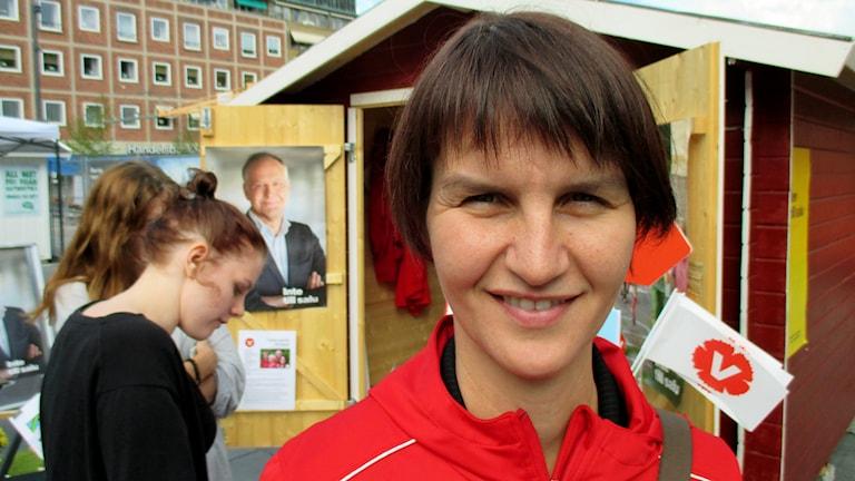 Maria Chergui (V). Foto: Michael Berwick/Sveriges Radio.