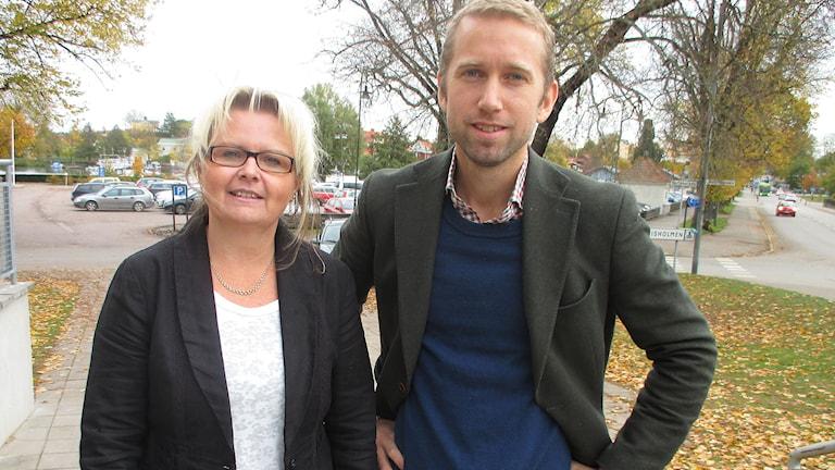 Monica Lindell Rylén, Jacob Högfeldt. Foto: Ingela Martinsgård/Sveriges Radio.