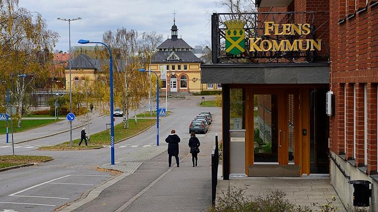 Kommunhuset i Flen. Foto: Per Thyrén/Sveriges Radio.