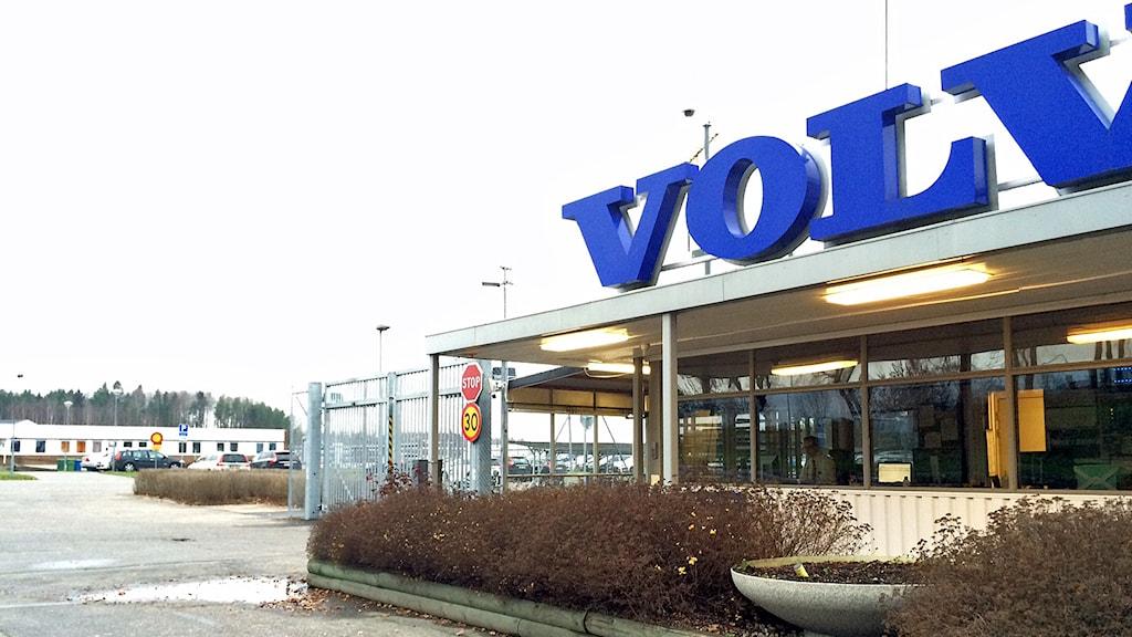Grindarna utanför Volvos fabrik i Eskilstuna. Foto: Jacob Hansson/Sveriges Radio.