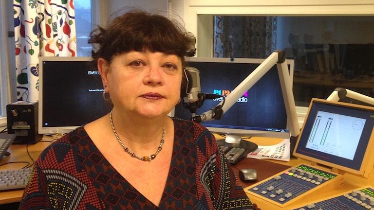 Christel Flinkenberg. Foto: Katarina Larsson/Sveriges Radio.