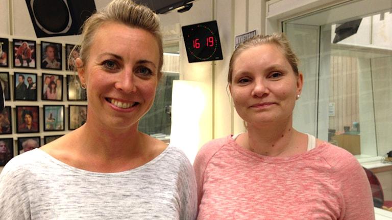 Malin Liss och Katarina Pocs. Foto: Johanna Iggsten/Sveriges Radio.