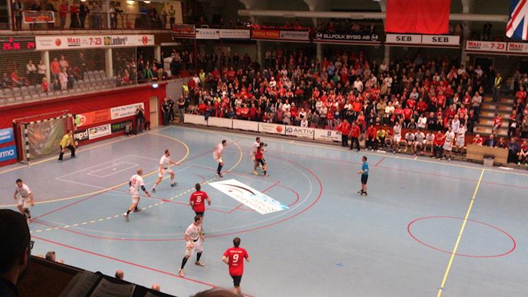 Eskilstuna GUIF - Bada Huesca. Foto: Josefin Lundin/Sveriges Radio.
