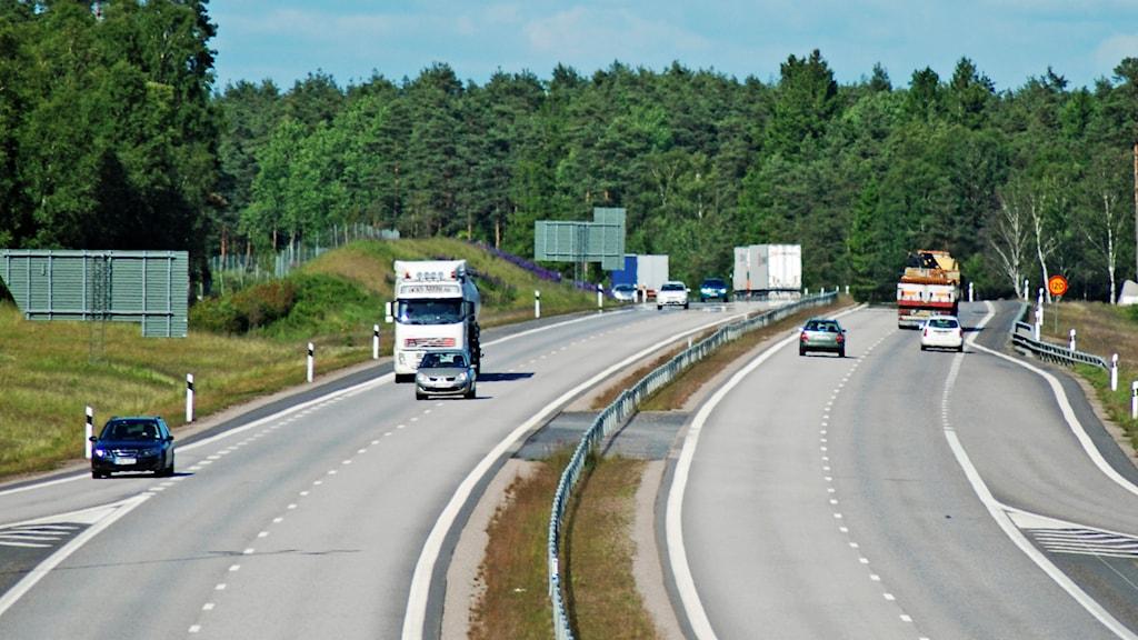Motorväg. Foto: Rikard Persson/Sveriges Radio.