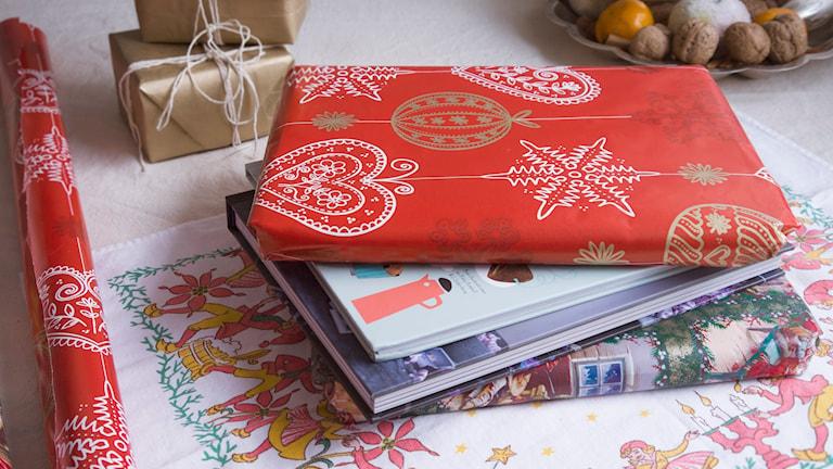 Julklappsböcker. Foto: Malin Randeniye.