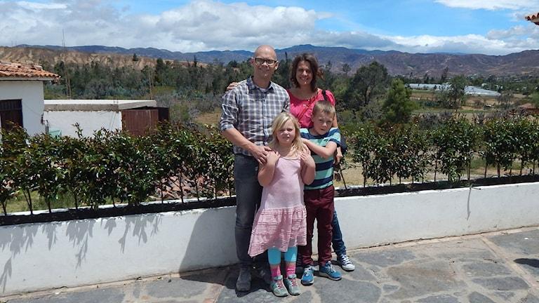 Andreas Gydingsgard med familj. Foto: Privat.
