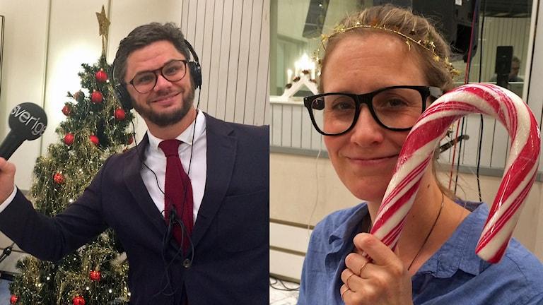 Svante Ekberg och Jennifer Nystedt. Foto: Evelina Crabb/Sveriges Radio.