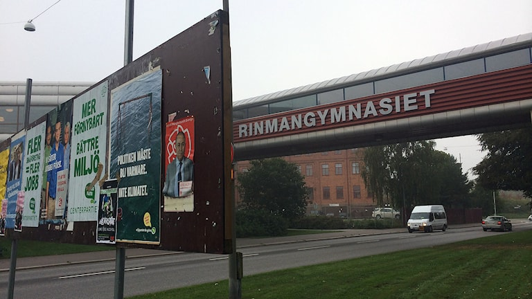 Rinmangymnasiet. Foto: Fredrik Blomberg/Sveriges Radio.