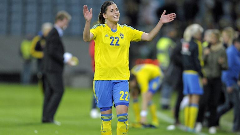 Olivia Schough, Eskilstuna United. Foto:Björn Lindgren/TT.