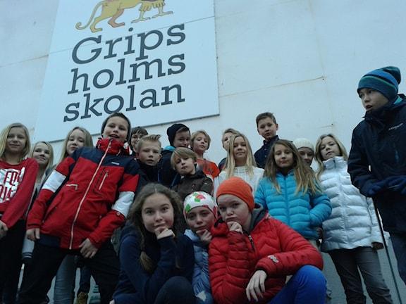 Gripsholmsskolan klass 5B från Mariefred.