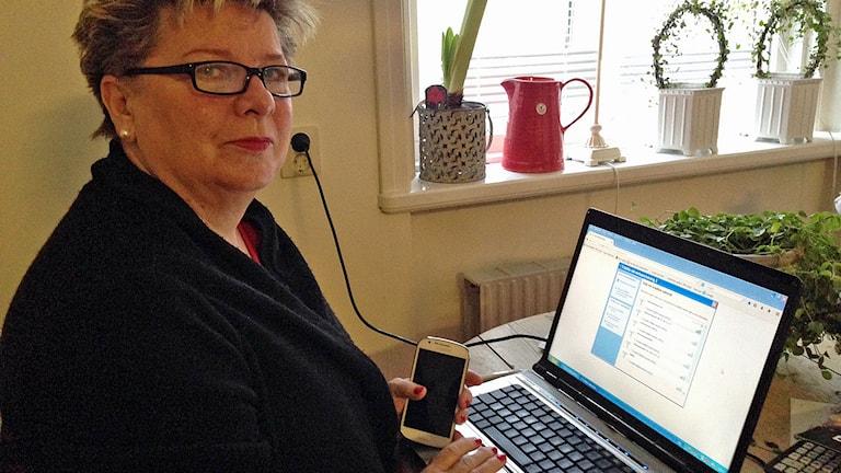 Ingegerd Chressman. Foto:Reino Helin/Sveriges Radio.