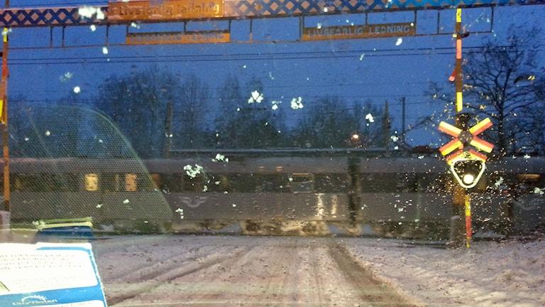 Tåg utan bommar. Foto: Conny Andersson, Flen.