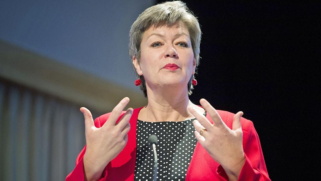 Ylva Johansson, arbetsmarknadsminister, S. Foto: Jessica Gow/TT.