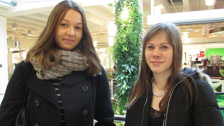 Selina Porkka, Amelie Salomonsson. Foto: Ingela Martinsgård/Sveriges Radio