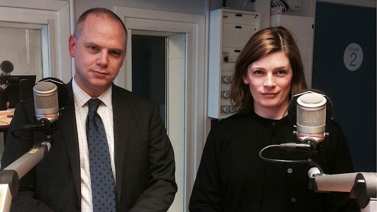 Urban Granström (M), Anna af Sillén (M). Foto: Katarina Wahlström/Sveriges Radio.